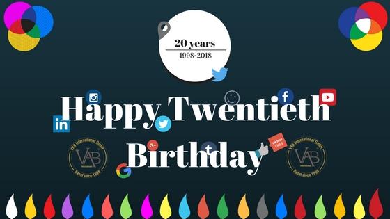 Image Celebrating Happy 20 years Business anniversary